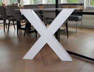 X- tafelpoot 120x120 Wit