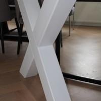 Tafelpoot X-LEG 120x120 wit