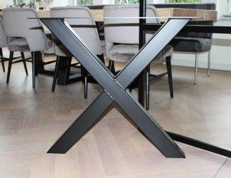 X- tafelpoot 80x80 Zwart