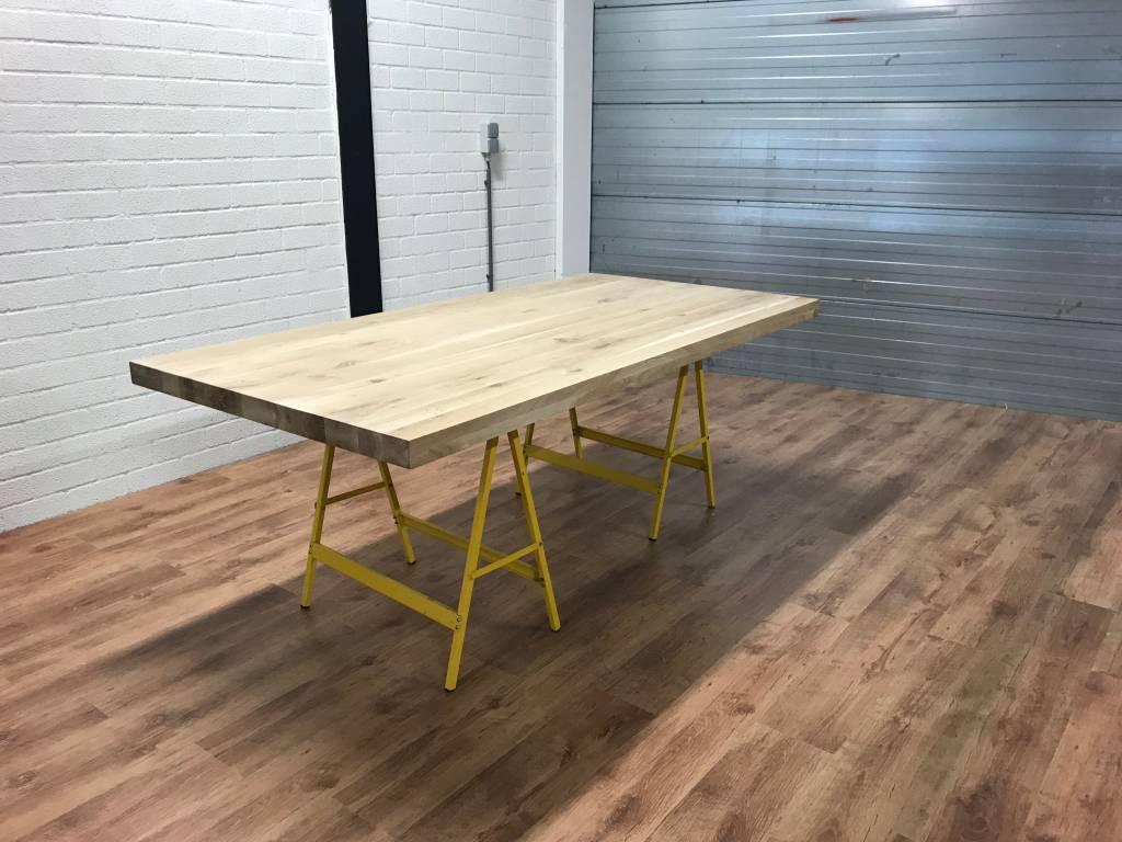 Tafel Laten Bezorgen : Mister tafel eiken hout tafelblad mistertafel
