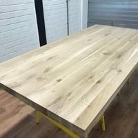 Tafelblad eiken 1,80 x 0,90 meter 6cm dik (3+3)