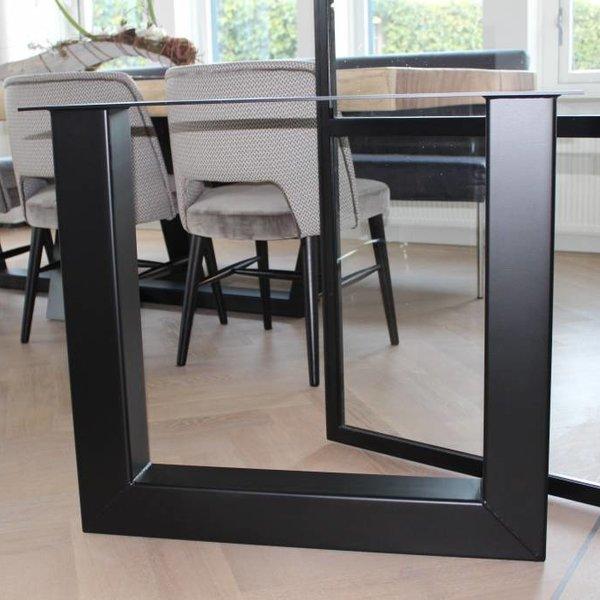 Tafelpoot U-LEG 100x100 Zwart