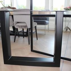 Tafelpoot U 120x80 zwart