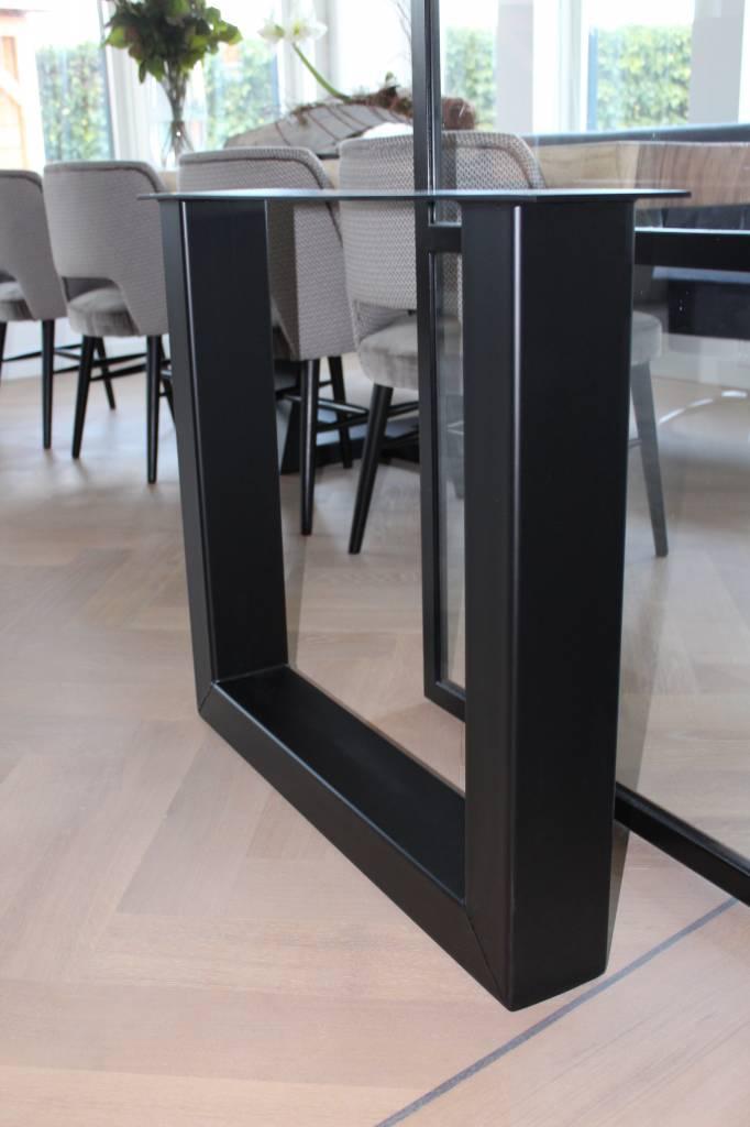 Tafelpoot U-LEG 120x80 zwart