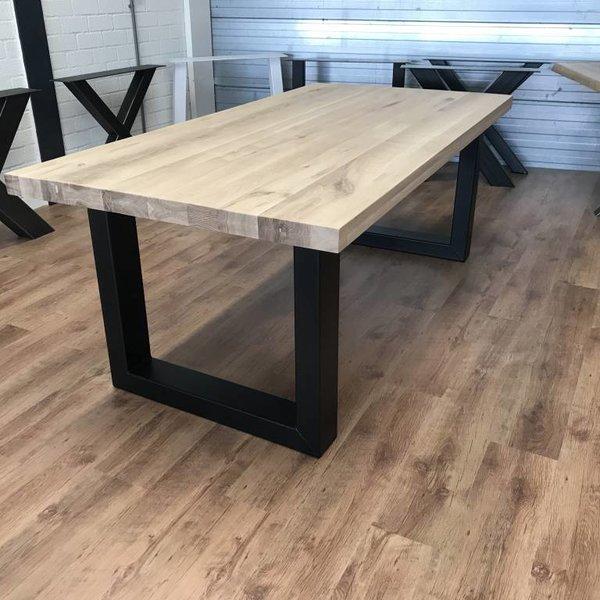Eettafel eiken hout - U tafelonderstel