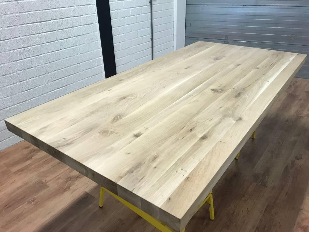 Tafelblad eiken 1,80 x 1,00 meter 6cm dik (3+3)