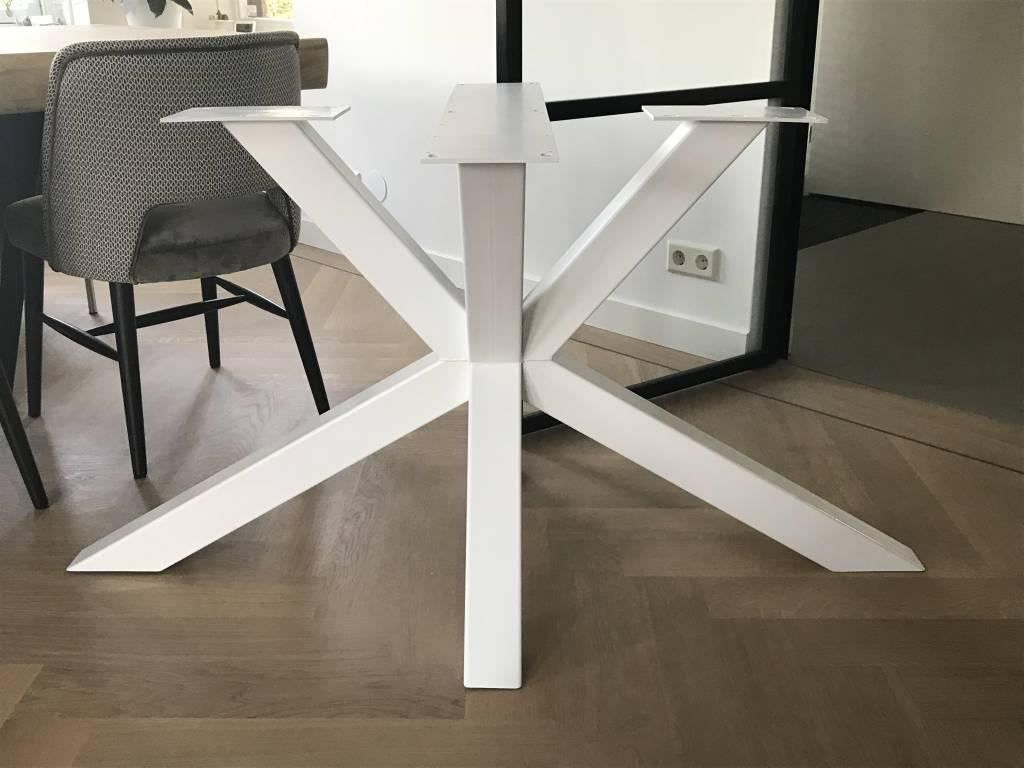 Witte Stalen Poten Tafel.Mister Tafel Staal Tafel Onderstel Industriele Look
