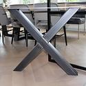 Eettafel eiken hout BOOMSTAM - X tafelonderstel