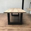 Eettafel eiken hout BOOMSTAM - U tafelonderstel