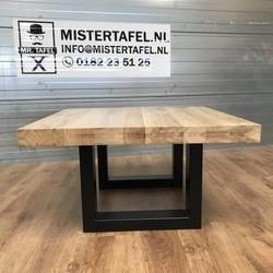 Salontafel eiken hout - U tafelonderstel