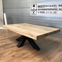 Salontafel eiken hout - matrix tafelonderstel