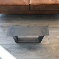 Tafelpoot U - salontafel 80x50 transparant