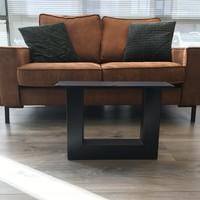 Tafelpoot U - salontafel 80x80 zwart. Prijs is per stuk!