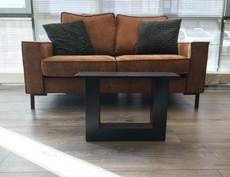 U -salontafel poot 80x80 zwart
