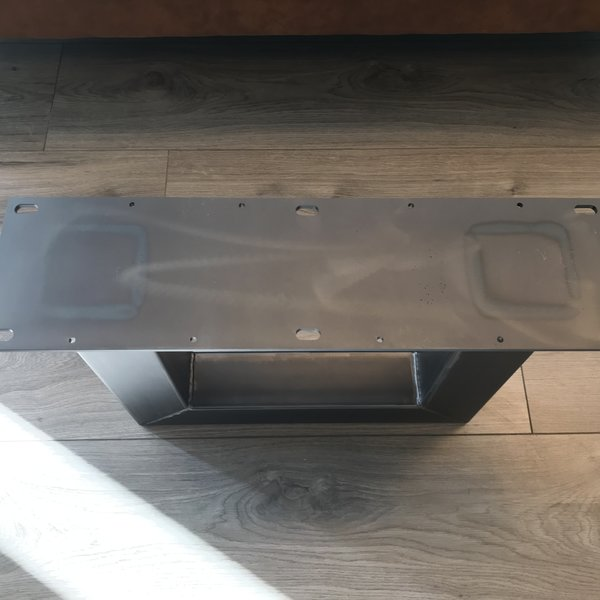 Tafelpoot U - salontafel 80x80 transparant