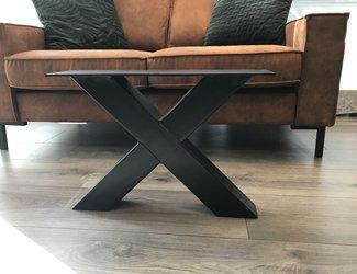 X -tafelpoot 80x80 zwart