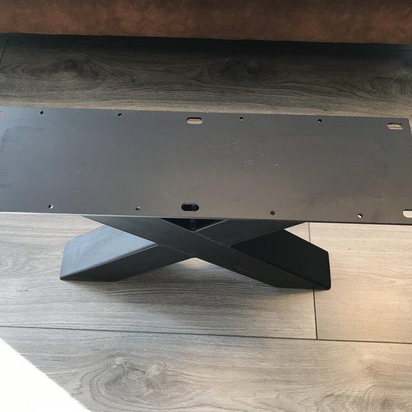 Tafelpoot X -  80x80 zwart