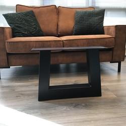 Tafelpoot Trapezium - salontafel 80x80 zwart