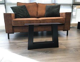 Trapezium-salontafel poot 80x80 zwart