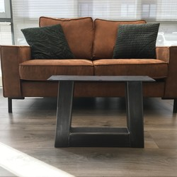 Tafelpoot Trapezium - salontafel 80x80 transparant