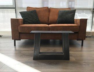 Trapezium -salontafel poot 80x80 transparant