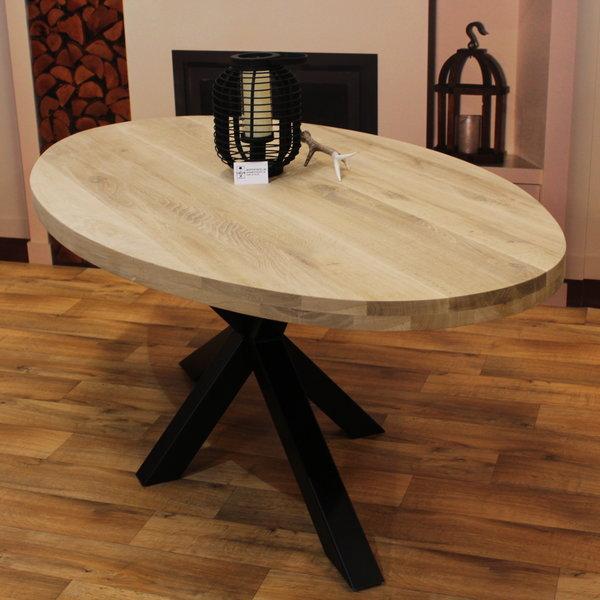 Eettafel ovaal eiken hout - Matrix tafelonderstel