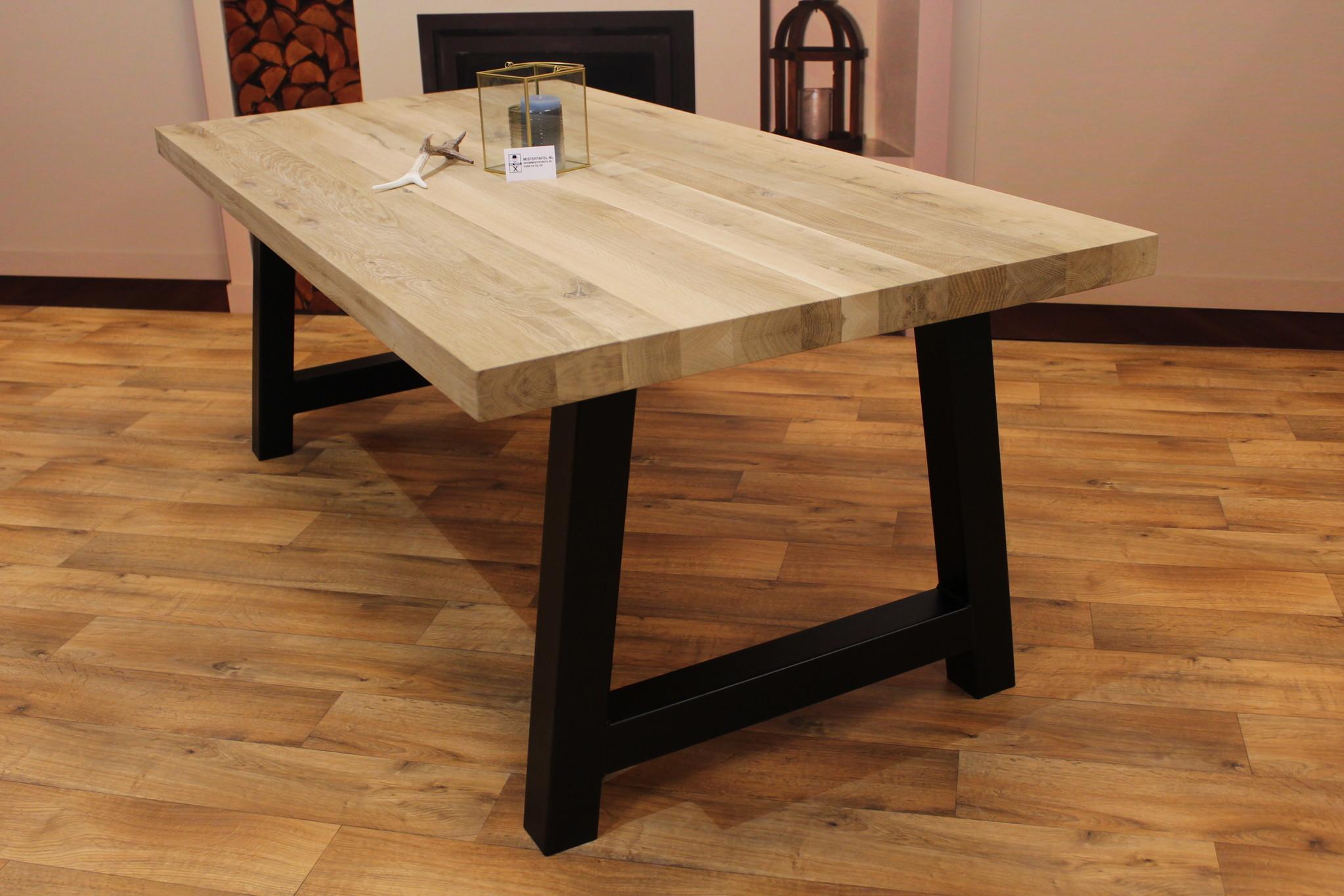 Eettafel eiken hout - A tafelonderstel