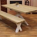 Eettafel eiken hout - matrix tafelonderstel