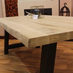 Boomstam tafelblad eiken 1,80  x 0,90 meter 5cm dik (2,5+2,5).