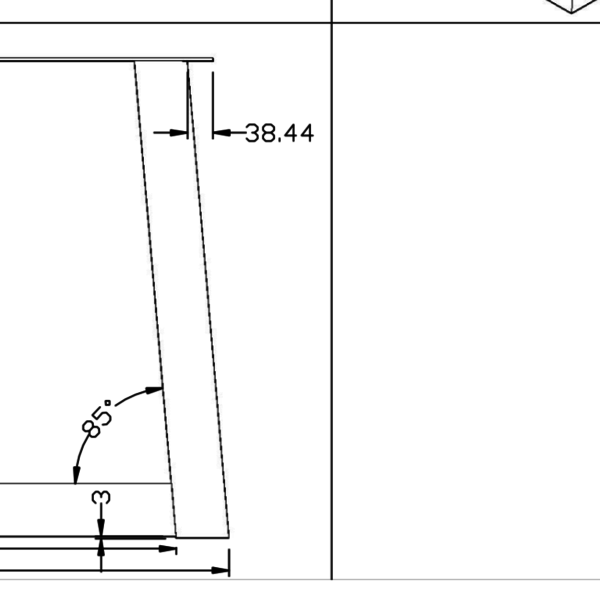 Tafelpoot Trapezium 80x80 transparant