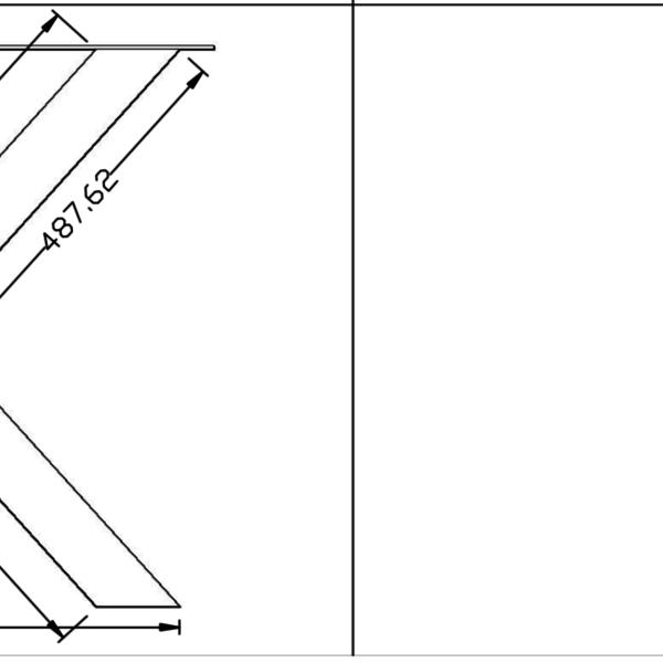 Tafelpoot X-LEG 80x80 Zwart