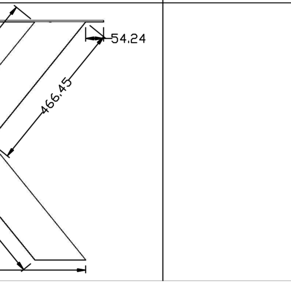 Tafelpoot X-LEG 120x120 transparant