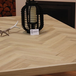 Visgraat tafelblad eiken 1,80 x 1,00 meter 5cm dikke rand
