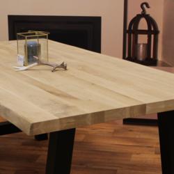Boomstam tafelblad eiken 2,40 x 1,00 meter 5cm dik (2,5+2,5).