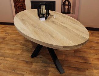 Ovaal tafelblad 2,20 x 1,10 meter