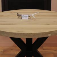 Tafelblad eiken 120cm 6cm dik (3+3)