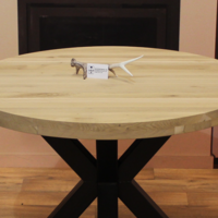 Tafelblad eiken 130cm 6cm dik (3+3)