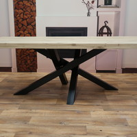 Eettafel eiken hout - TWIST tafelonderstel