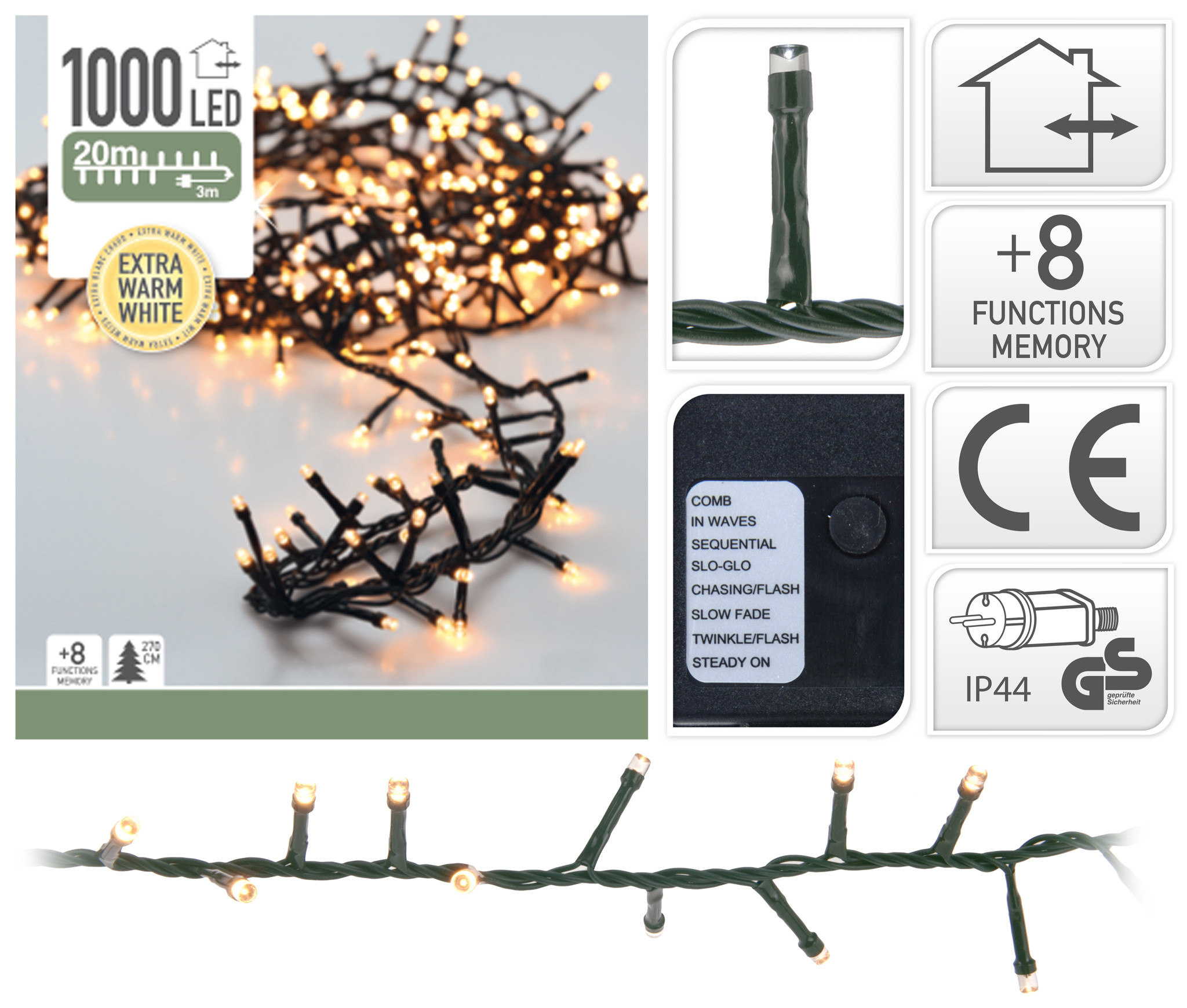 MICROCLUSTER 1000LED EXTRA WW-1