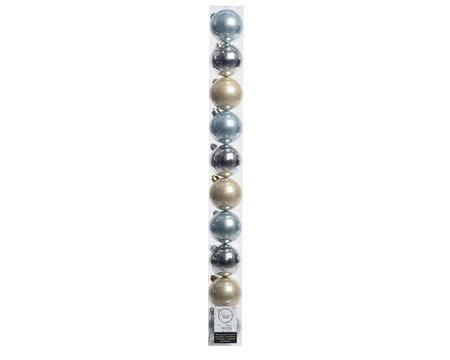 KERSTBAL PLASTIC + DRAADLINTEN BLAUW-ZILVER-PAREL DIA6CM 10ST-2