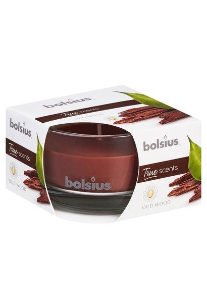 BOLSIUS GEURGLAS TRUE SCENTS 80/50 OUD WOOD (6)