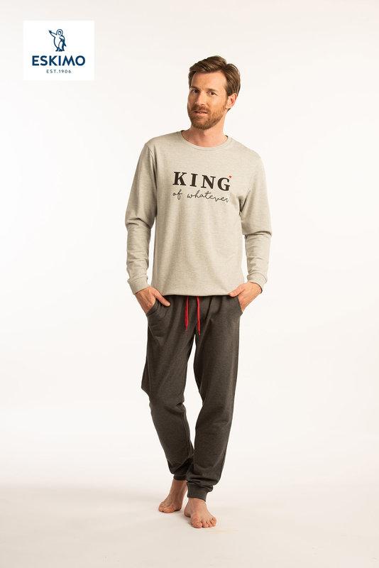 KING & QUEEN H PYJ GRIJS - M