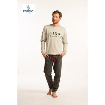 KING & QUEEN H PYJ GRIJS - XL