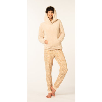 DAMESHOODIE TEDDY BEIGE - L