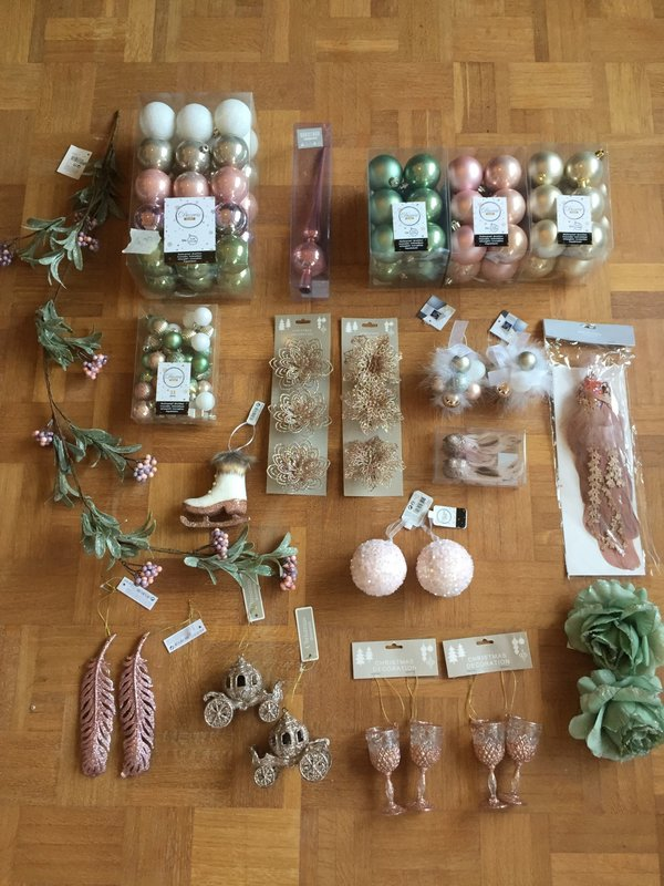 KERSTBOX PINK & NATURE - LARGE