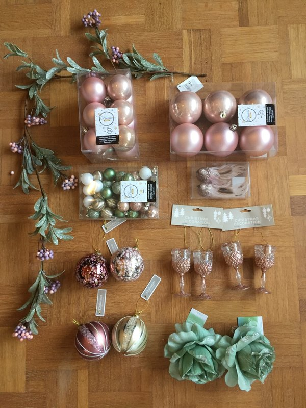 KERSTBOX PINK & NATURE - SMALL