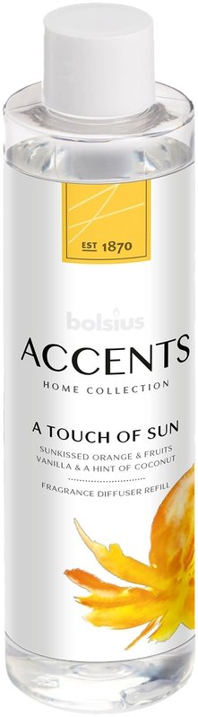 BOLSIUS ACCENT DIFFUSER REFILL  200ML A TOUCH OF SUN (12)