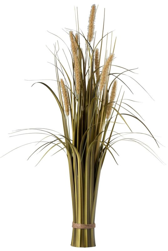 BUNDEL GRAS+STAART PL GRN/BE 12X12X84CM