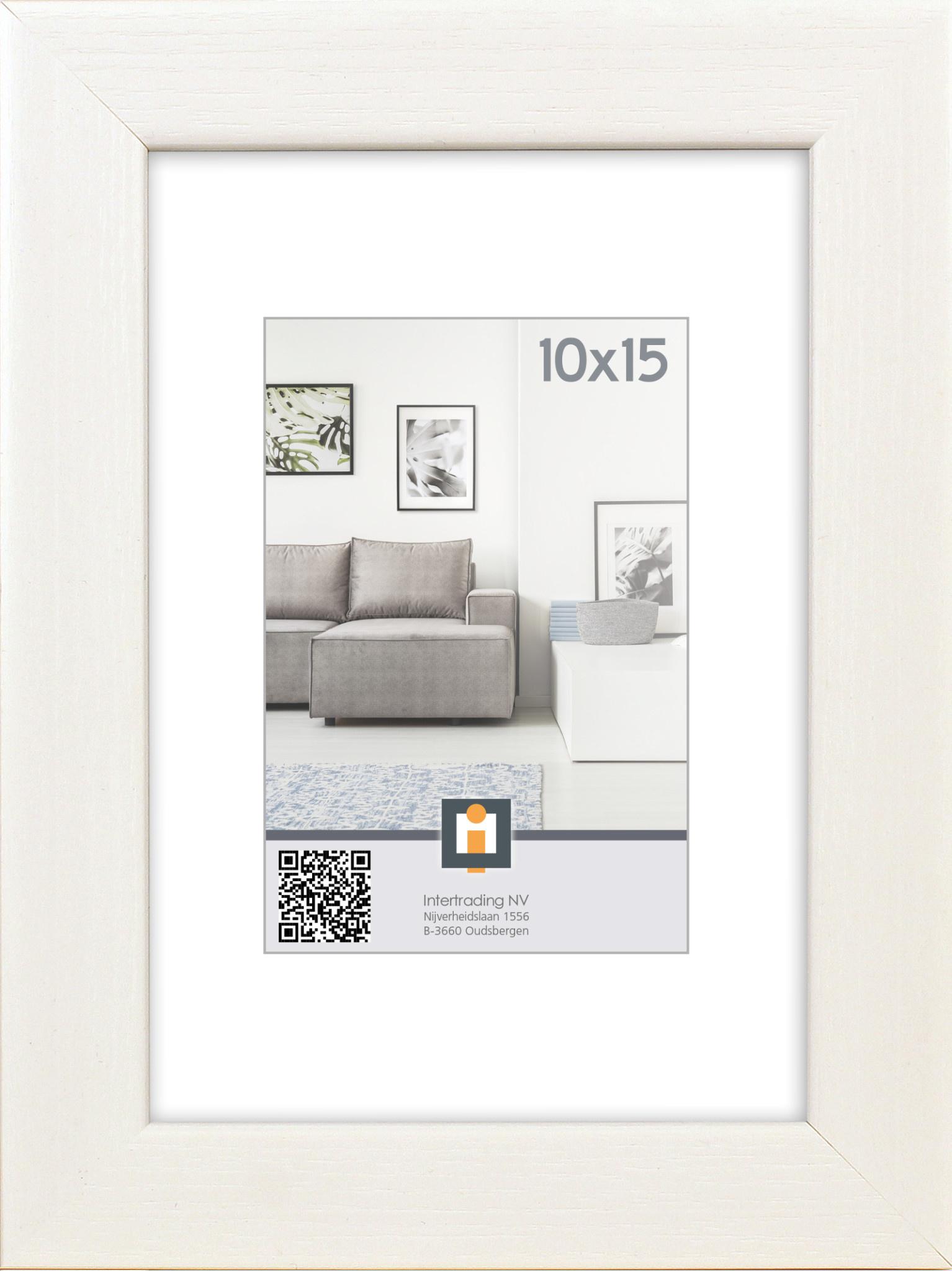 FOTOLIJST LIVORNO 10X15CM WIT-1
