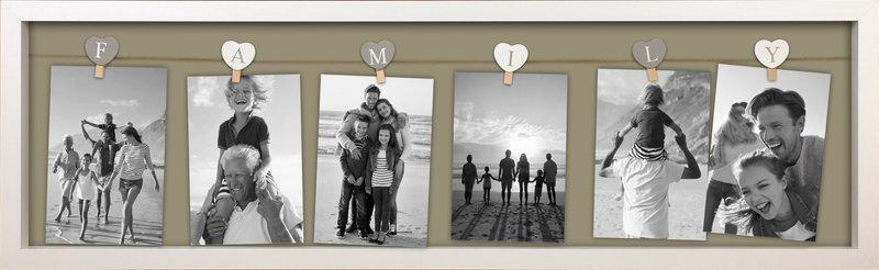 FOTOLIJST FAMILY 2.0 6FTS 78X24CM WIT